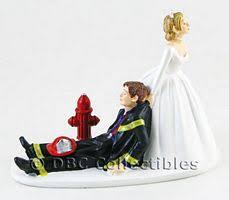 fireman wedding cake toppers firefighter wedding cake toppers dbc collectibles