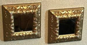 home interiors mirrors set of two homco home interiors mirrors gold ornate 8 x 8 vgc