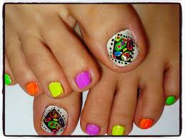 how to stamp multticolors on stamps toe nail design youtube