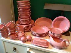 vintage fiestaware retired color mixed set pink