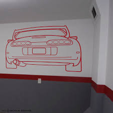 toyota supra sports car wall art vinyl garage sticker workshop zoom