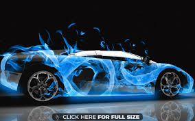 lambo jeep lamborghini in blue flames hd wallpaper