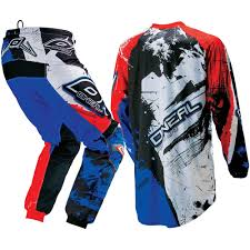 mx motocross gear oneal mx new 2017 element shocker black red blue dirt bike