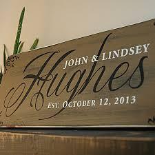 handmade family last name sign established sign rustic wood sign