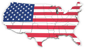 Mlb Map Image United States Flag Map Outline 1600 Clr 3123 Map 3 Png
