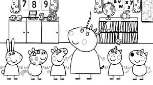 peppa pig in the classroom madam gazelle coloring book coloring