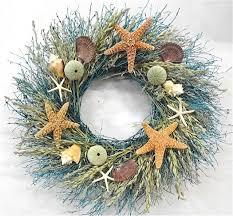 walk on the summer door wreath sea shells