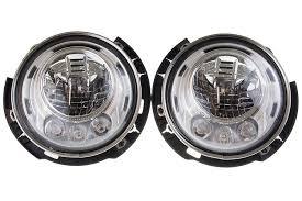 headlights jeep wrangler jeep wrangler rubicon jk led headlights 68304051aa 68304050aa