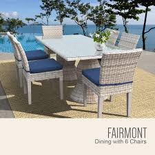Patio Table 6 Chairs Fairmont Rectangular Outdoor Patio Dining Table With 6 Armless Chairs