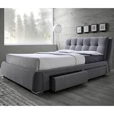 Storage Bed With Headboard Tufted Design Upholstered Storage Bed With Pillow Top Headboard