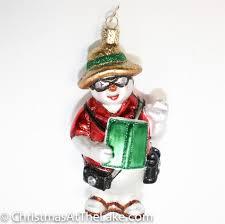 snowman ornament christmas at the lake