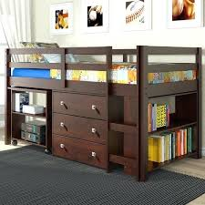 low loft bunk beds for kids kids low loft bed with dresser and