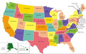 Blank Map Of Usa Quiz by Map Of The 50 States Of The United States Usa State Capitals Song