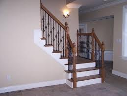 interior basement stairs railing with stunning basement stairs