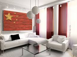Chineses Flag Handmade Distressed Wooden Chinese Flag Vintage Art Distressed