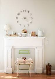 Shabby Chic Fireplaces by Mantel Clocks In Dining Room Shabby Chic With Fake Fireplace Next