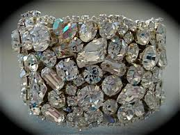rhinestone cuff bracelet images Chunky swarovski crystal bridal bracelet the crystal rose bridal JPG