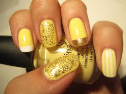 yellow nail polish design how you can do it at home pictures