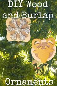diy rustic wood and burlap ornaments house to new home