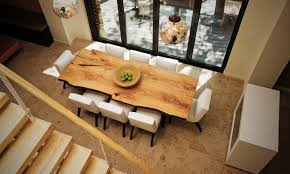 modern contemporary dining room furniture how live edge in interior design can transform your space