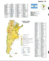 Resource Map Argentina Resource Mapfree Maps Of South America