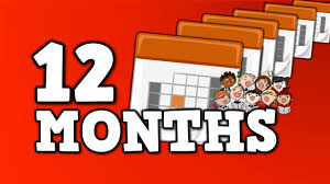 12 months song for kids about 12 months in a year youtube