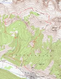 Topographic Map Of Utah by Topographic Map Of The Sneffels Highline Trail San Juan Mountains