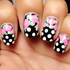 floral polka dot nails pictures photos and images for facebook