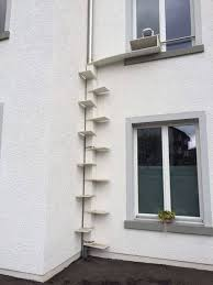 katzenleiter balkon katzenleiter katzentreppe katzenwendeltreppe sr kratzbaum