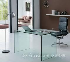 Glass Modern Desk Desk Design Ideas Geo Modern Designer Glass Desks Interior Design
