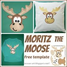moose template wesens moritz the moose moritz der elch