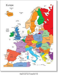 map of europe with country names and capitals free print of europe with editable countries names europe