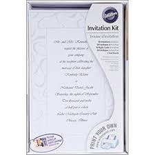 wedding invitation kits wilton swirls wedding invitation kit kitchen