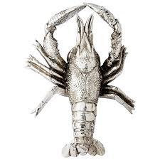 serafina silver lobster ornament tutti decor ltd