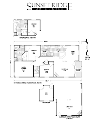 Karsten Homes Floor Plans by Sunset Ridge Series 5starhomes Manufactured Homes