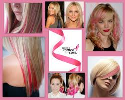 pink hair extensions show your support for breast cancer with a pink hair extension