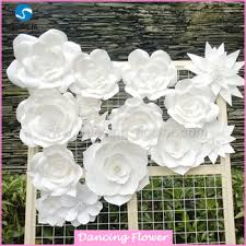 customized handcraft wall paper flowers for decorations buy