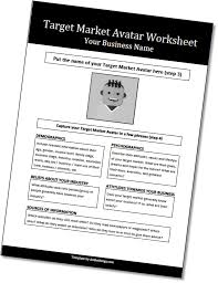 how to create a target market avatar free worksheet