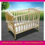 bd007 038 multifunctional foldable wooden baby crib with wheels