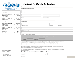 dj contract template sample dj contract form template png sales