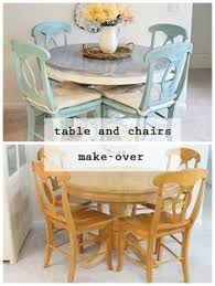Oak Table And Chairs Oak Table Makeover Chair Makeover Kitchens And Diy Furniture