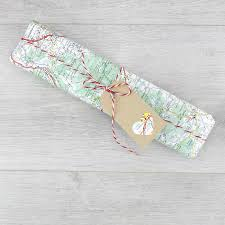 Map Wrapping Paper Personalised Map Pencil A Wedding Gift With A Difference