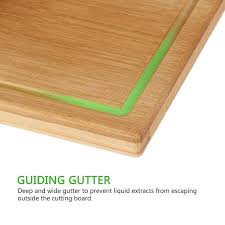 Corian Chopping Board Lifewit Cutting Board Large Non Glue Kitchen Organic Bamboo Wood
