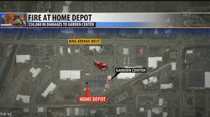 Map Gas Home Depot Fire Damages Home Depot Store In Billings Youtube