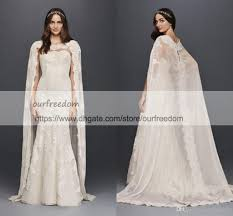 abaya wedding dress oleg cassini scalloped chiffon lace cape wedding dress 2018 modest