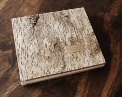 rustic wedding photo albums wedding photo album or scrapbook rustic birch instant photo