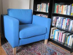 comfy library chairs furniture white reading chair and ottoman using nail accent added