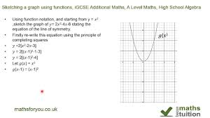 function notation sketching graphs igcse additional maths a