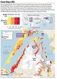Earthquake Map Oregon by Jordan Cove Lng Terminal At Coos Bay Designed For Cascadia Quake