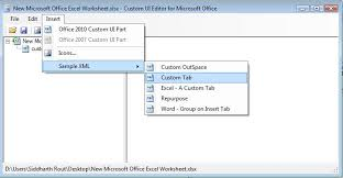 excel how to add a custom ribbon tab using vba stack overflow